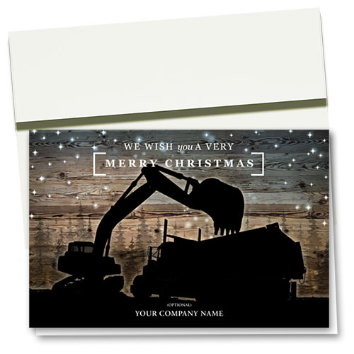 Construction Christmas Cards - Midnight Silhouette