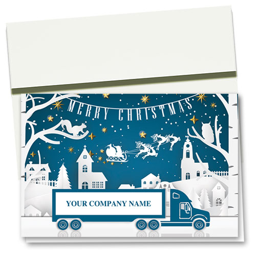 Trucking Christmas Cards - Tiny Town