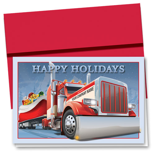 Trucking Christmas Cards - Red Nose