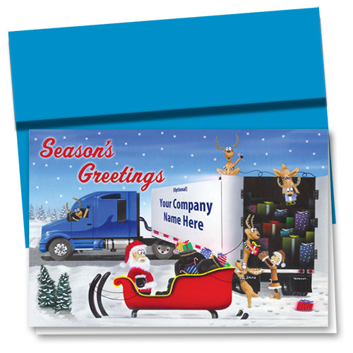 Trucking Christmas Cards - Gift Transfer