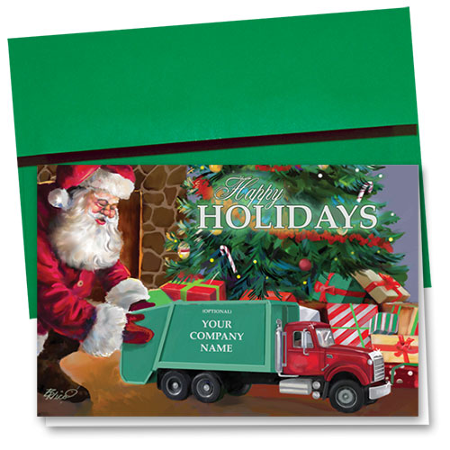 Trucking Christmas Cards - Toy Refuse