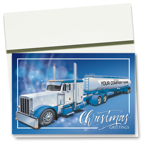 Trucking Christmas Cards - Majestic Tanker