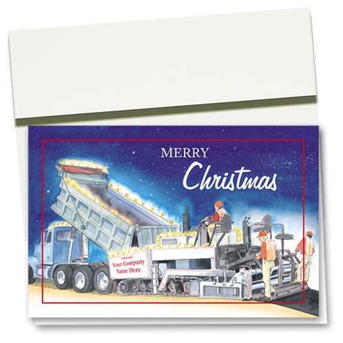 Construction Christmas Cards - Lights Paver
