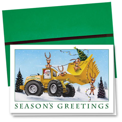Construction Christmas Cards - Trees Loader