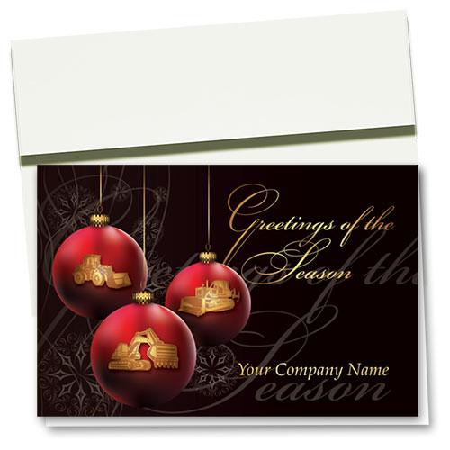Construction Christmas Cards - Greeting Trio