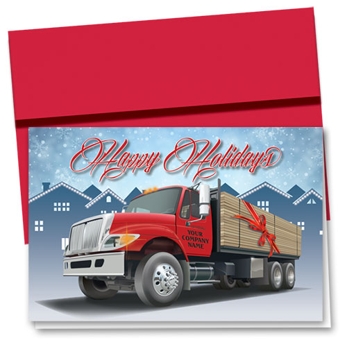 Construction Christmas Cards - Holiday Lumber