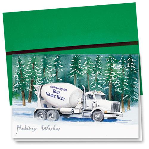 Premium Foil Construction Holiday Cards - Forest Concrete