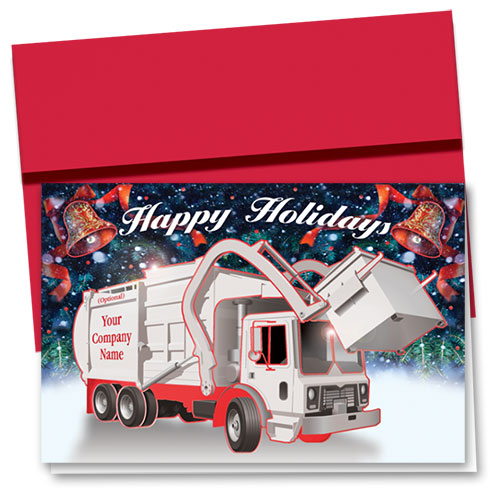 Premium Foil Construction Holiday Cards - Refuse Bells