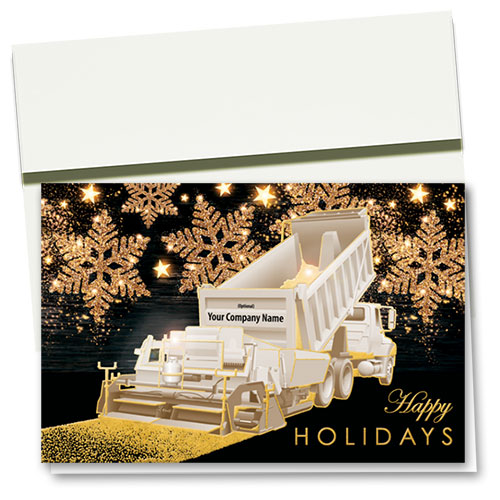 Premium Foil Construction Holiday Cards - Glitter Snowflake