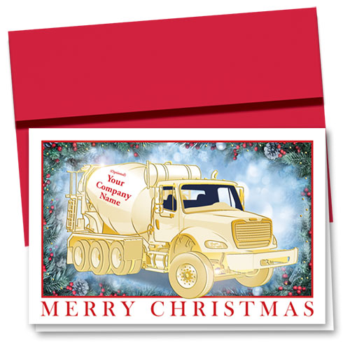 Premium Foil Construction Christmas Cards - Shining Concrete