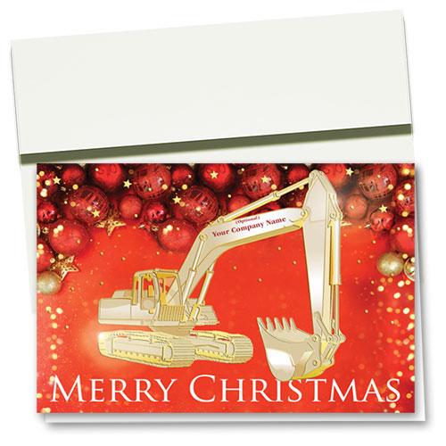Premium Foil Construction Christmas Cards - Ruby Decor