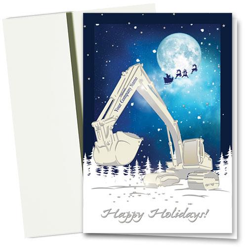 Premium Foil Construction Christmas Cards - Moonlit Scoop