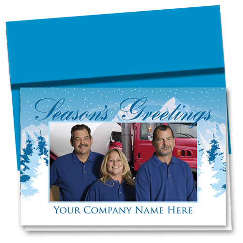 Construction Holiday Cards - Photo Cards - Dsg T07C