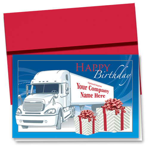 Trucking Christmas Cards Birthday Gift Trucking Office Supplies