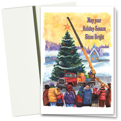 Construction Christmas Cards - Shine Bright