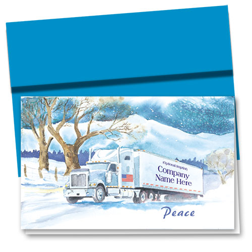 Trucking Christmas Cards - American Peace
