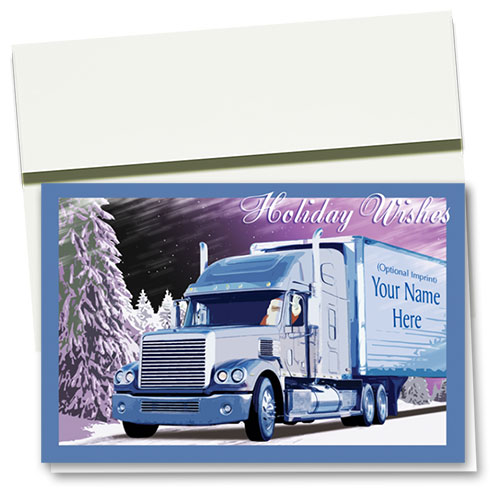Trucking Christmas Cards - Frosted Drive
