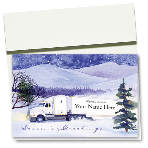 Trucking Christmas Cards - Winter Move