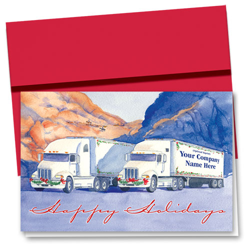 Trucking Christmas Cards - Desert Duo