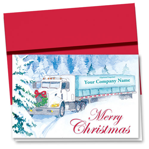 Trucking Christmas Cards - White Christmas