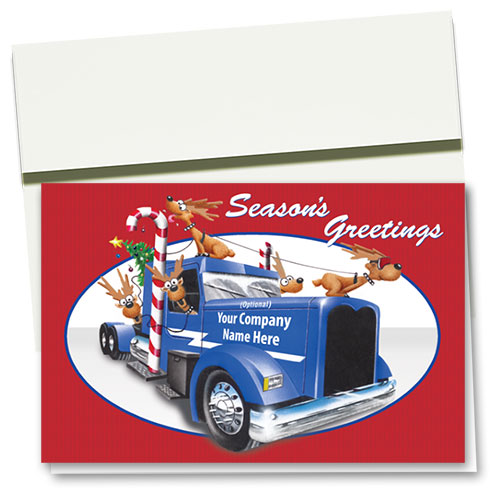 Trucking Christmas Cards - Reindeer Travels