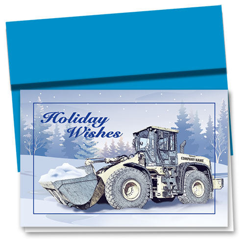 Construction Christmas Cards - Woodland Loader