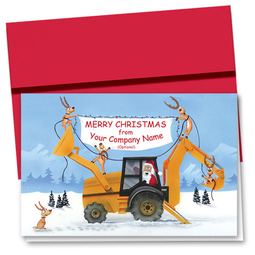 Construction Christmas Cards Company Banner