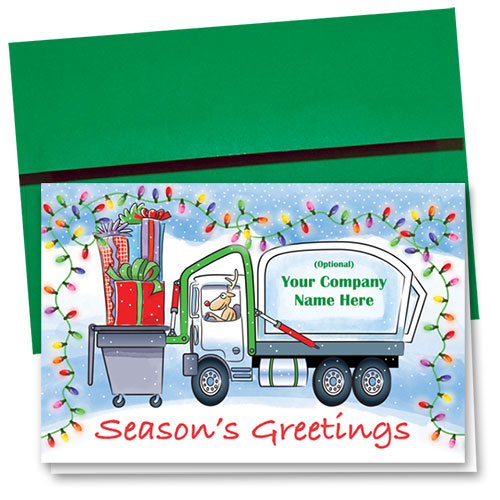 Construction Christmas Cards - Front Load Greetings