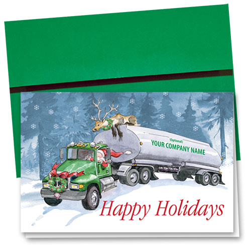 Trucking Christmas Cards - Holiday Ride
