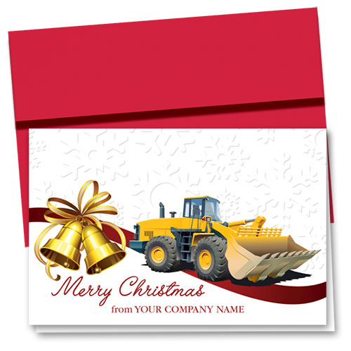 Construction Christmas Cards Bell Loader