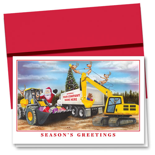 Construction Christmas Cards - Star on Top