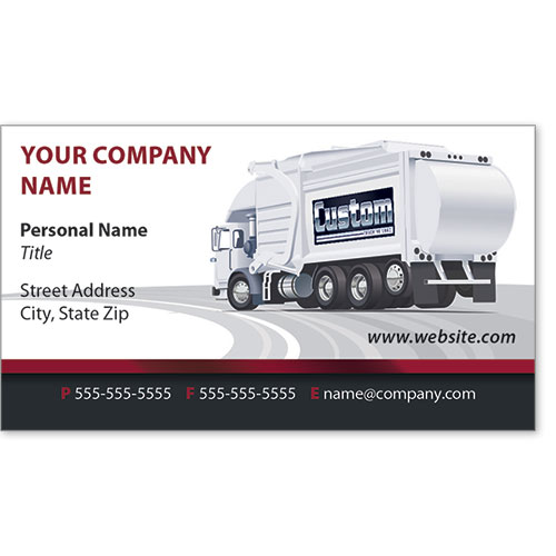 Full-Color Trucking Business Cards - Refuse 2