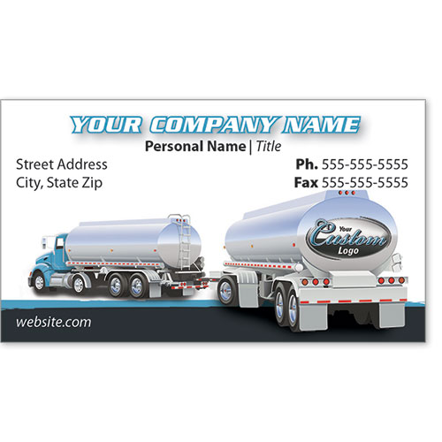 Full-Color Trucking Business Cards - Tanker 1