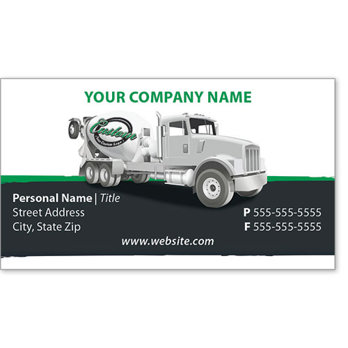 Full-Color Construction Business Cards - Concrete 1