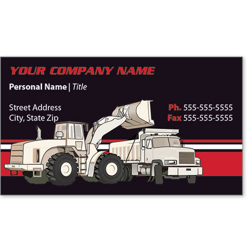 Full-Color Construction Business Cards - Construction 2
