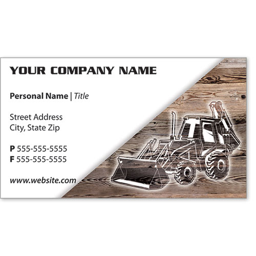 Full-Color Construction Business Cards - Construction 4