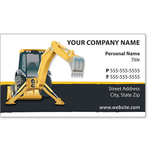 Full-Color Construction Business Cards - Construction 5