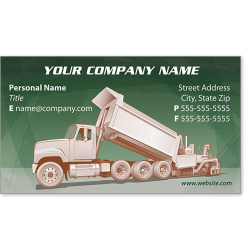 Full-Color Construction Business Cards - Paving 2
