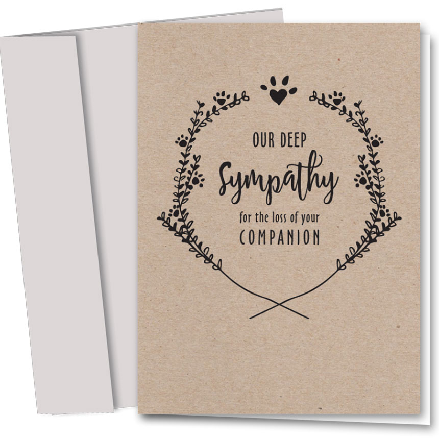 Pet Sympathy Cards Lost Companion