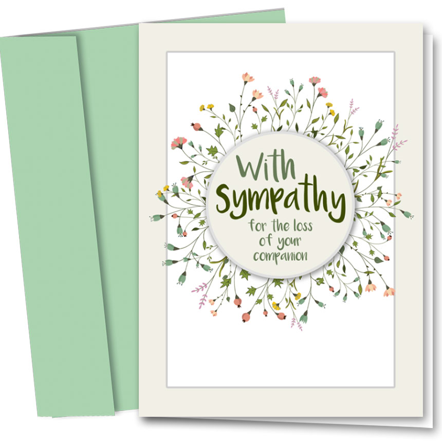 Pet Sympathy Cards Sprouted