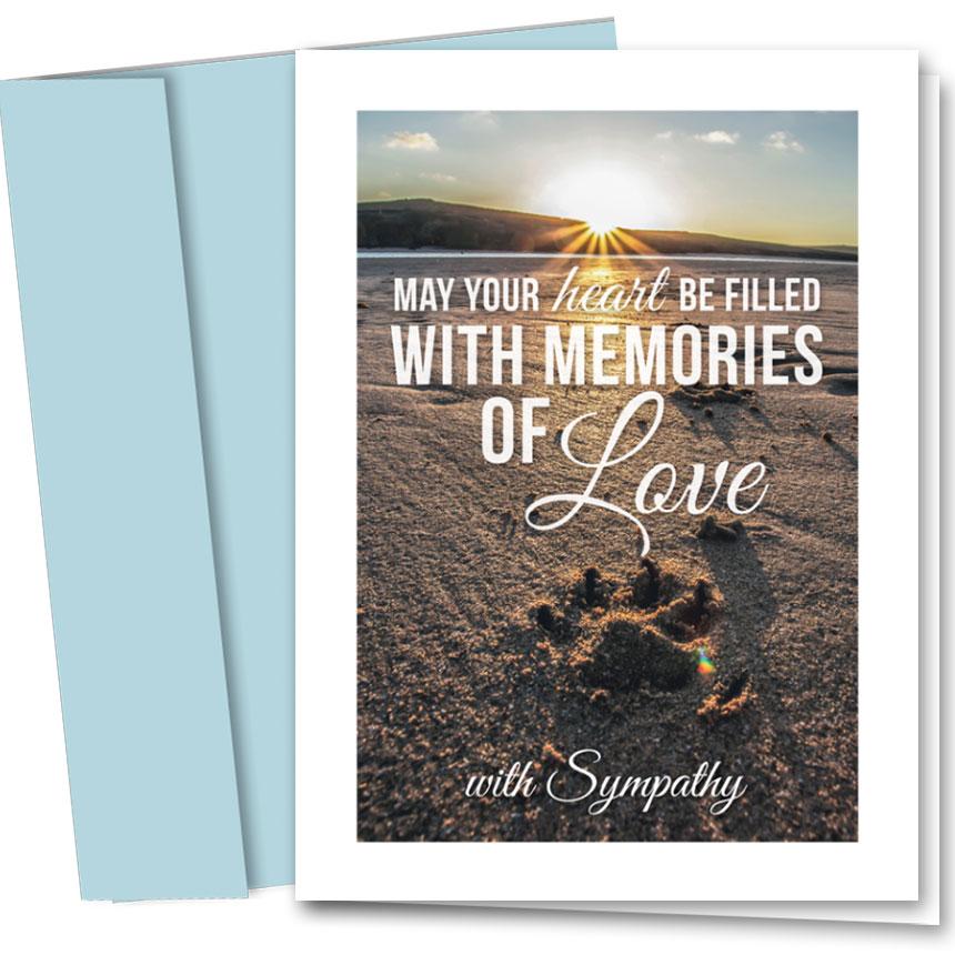 Pet Sympathy Cards - Beach Sympathy