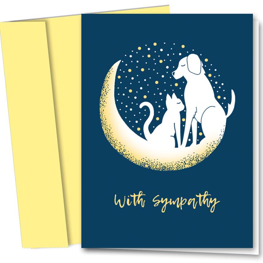 Pet Sympathy Cards - Moon Sympathy