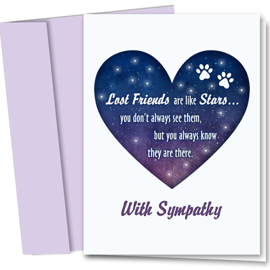Pet Sympathy Cards - Starry Heart