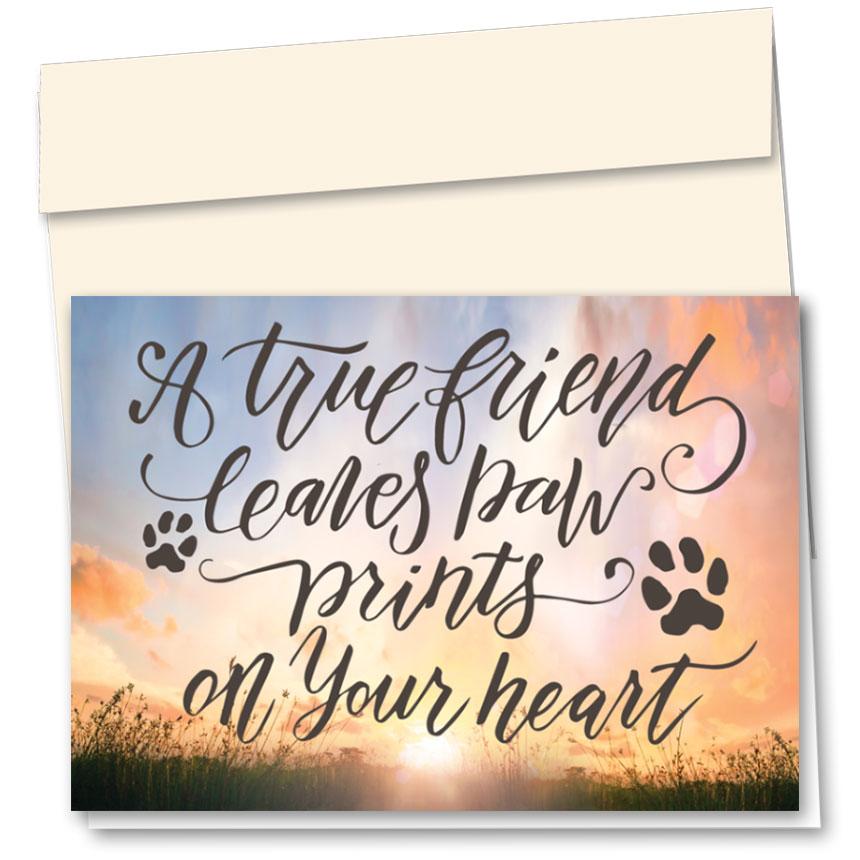 Pet Sympathy Cards - Soft Sunset