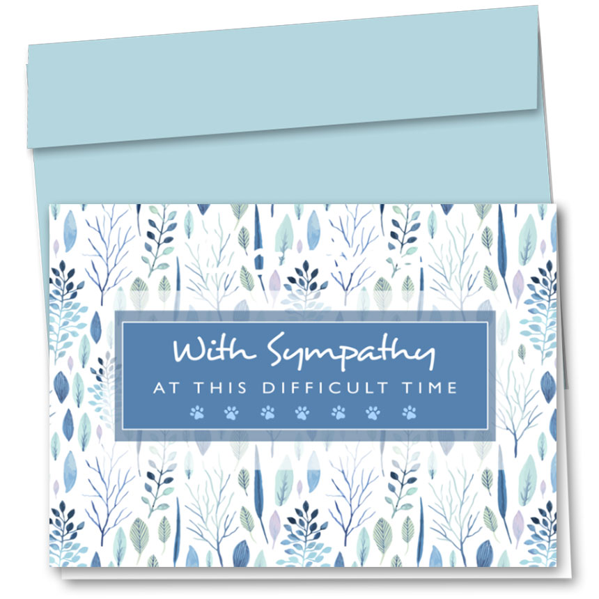 Pet Sympathy Cards - Leaves and Branches