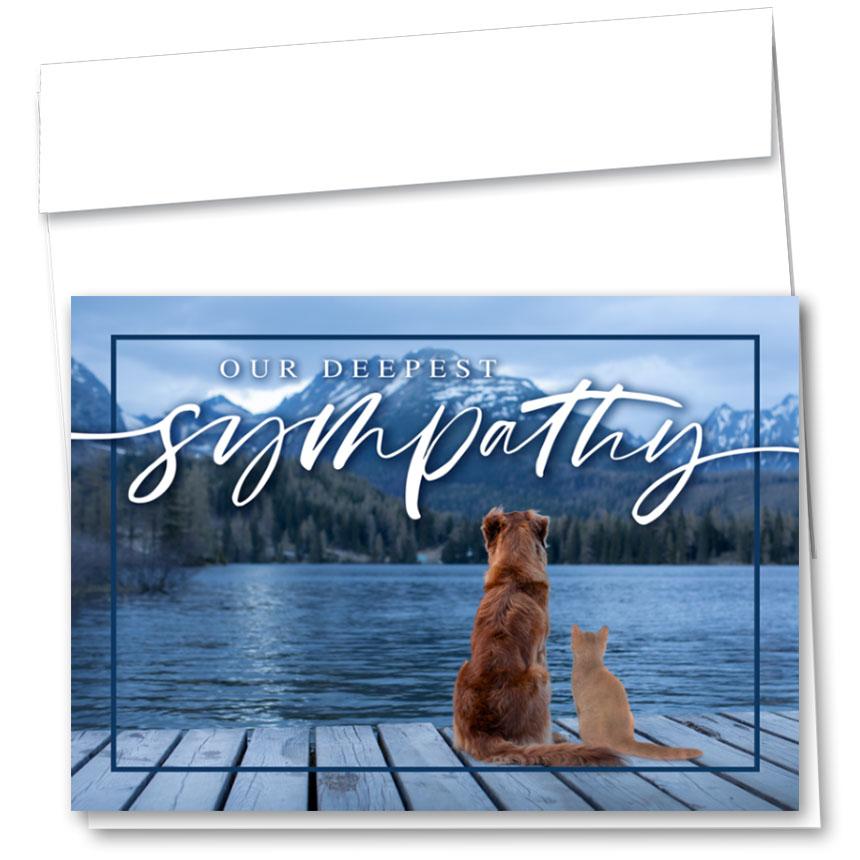 Pet Sympathy Cards - Lake View