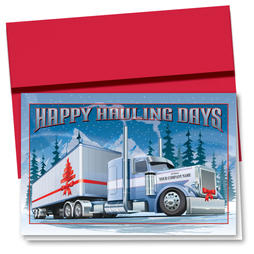 Trucking Christmas Cards - Hauliday Bows | Trucking Office Supplies