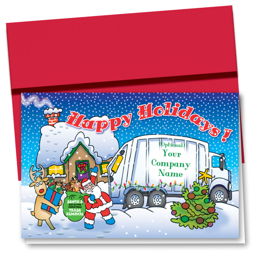 Trucking Christmas Cards  - Holiday Pick Up