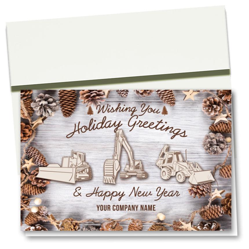 Construction Christmas Cards - Pine Cone Triad