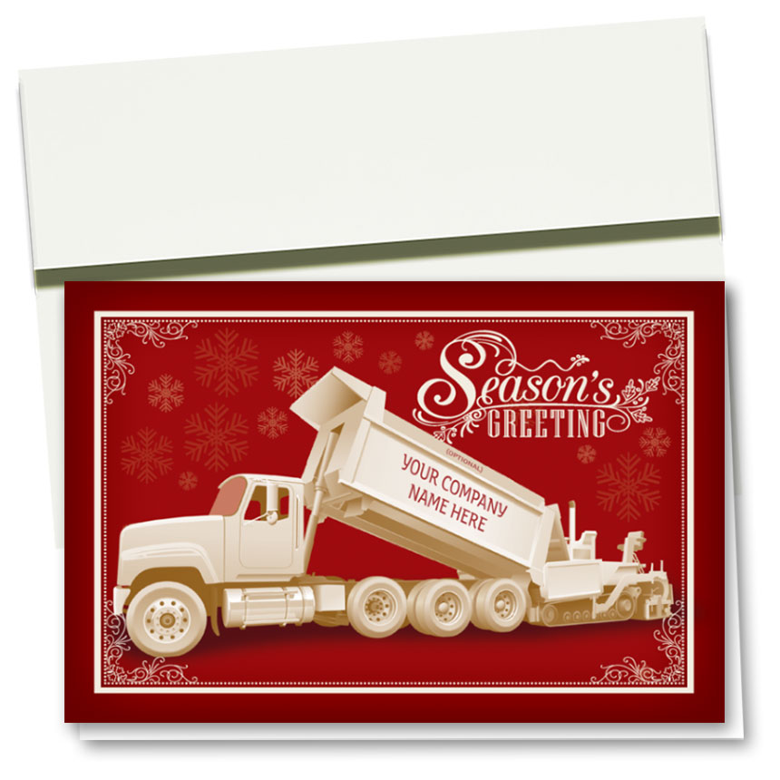 Construction Christmas Cards - Greeting Paver